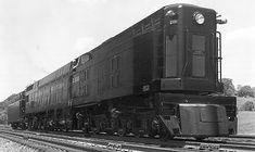 "Norfolk & Western steam-turbine-electric, built in 1954 was nicknamed ""Jawn Henry""."