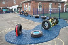 Picture of our Bonded Rubber Mulch Surfacing