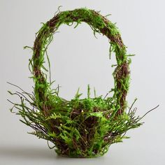 Mossy Basket at Cost Plus World Market >>  #WorldMarket Easter Style Hunt Sweepstakes. Enter to win a 1K World Market gift card.