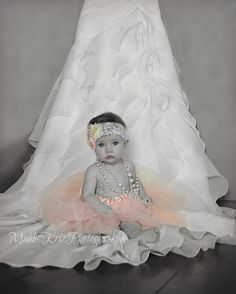 6 Month picture with my wedding dress taken at home! Inspired by other pinterest pictures!