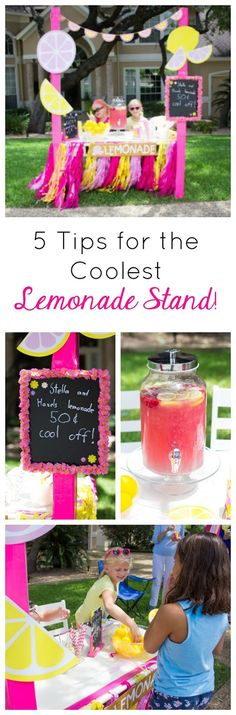 Love these fun ideas for hosting a lemonade stand this summer!