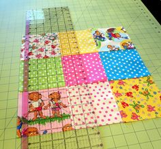 Berenstain Bears Disappearing Nine Patch Quilt Block Tutorial and Giveaway - The Cottage Mama