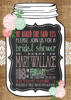Any Color Lace Bridal MASON JAR Vintage BURLAP by MolsDesigns