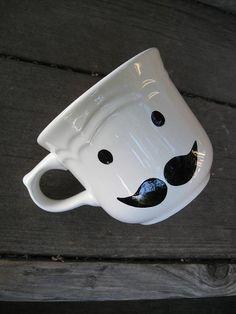 Mr Poirot Mustache Teacup