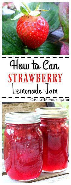 Excellent Toddler Shower Centerpiece Tips Canning Strawberry Lemonade Jam. In the event that You Like Strawberry Lemonade, Then You Will Love This Easy Homemade Strawberry Lemonade Jam. Simple Water Bath Canning For Beginners. Canning Tips, Canning Recipes, Homemade Strawberry Lemonade, Strawberry Jam Recipes, Canned Strawberries, Sauce Pizza, Oxtail Recipes, Homemade Jelly, Homemade Butter