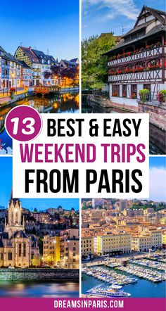 Want to take a quick escape from Paris? Here are the best weekend trips from Paris that you'll enjoy.| Best weekend getaways from Paris| Best train trips from Paris| best day trips from Paris by train| Paris weekend away trips| best Paris weekend trips| best cities in France to visit from Paris| best road trips from Paris| best Paris weekend breaks| the best weekend getaway from Paris Romantic Paris, Beautiful Paris, Paris Bucket List, Lake Annecy, Day Trip From Paris, Best Weekend Getaways, Weekends Away, By Train, Beautiful Places To Visit