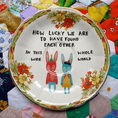 Vintage Illustrated Plate - I LOVE these!  I wish I had the artistic talent to do this!