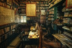 Old Library - The old library room of Els Calderers, a 18th-century mansion on Majorca, Spain.