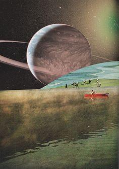 Collage al Infinito by Trasvorder aka Mariano Peccinetti - Saturnomar, 2013 Collages: Cut + Paste