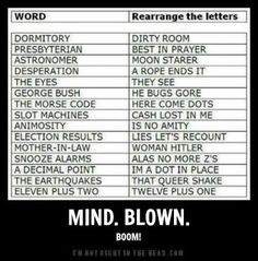 rearrange the letters mind blown