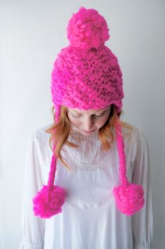 Field Trip Hat Knitting Pattern by Knit Collage ~ bulky, chunky hand knit hat pattern!
