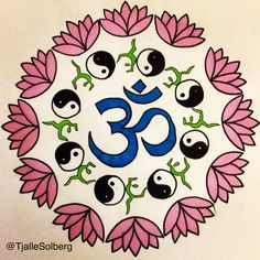 My mini yoga mandala. By Linnea Tjalle Solberg, October 2015. You find all my original artwork on my Instagram @TjalleSolberg
