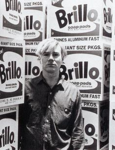 Wiry abrasive substance. And some Brillo Pads. Andy Warhol.