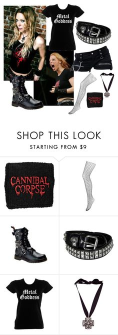 """""""Arch Enemy: Angela Gossow"""" by tragedycore ❤ liked on Polyvore featuring Monsoon and Lanvin"""