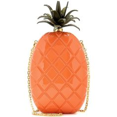 Valentino mytheresa.com Online Exclusive Pineapple Box Clutch ($3,330) ❤ liked on Polyvore featuring bags, handbags, clutches, valentino, orange, orange purse, orange handbags, pineapple handbag, red box clutch and valentino purses