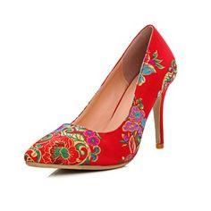 Bombas de las mujeres del dedo del pie talones del estilete cerrada talón  zapatos de raso 187d80ad4b16