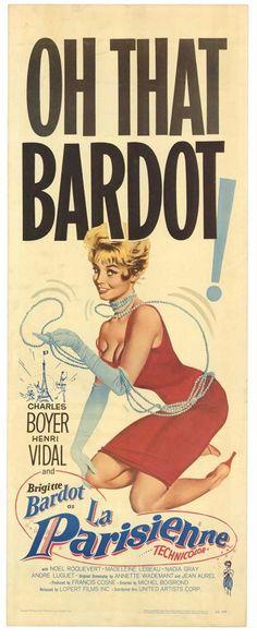 Une Parisienne movie poster - Brigitte Bardot