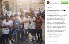 Imperador voltou: Adriano encontra crianças e faz a barba na Vila Cruzeiro