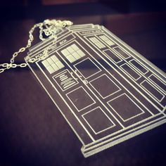 Custom acrylic laser cut Tardis pendant $15 on a sterling silver chain!  #acrylic #Awesome #bl_nkdesigns #blnkdesigns #blankdesigns #TARDIS #doctorwho #bbc #cool #lasercut #loveit by bl_nkdesigns