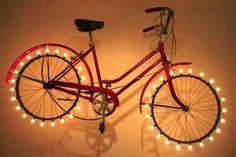 Home and Garden DIY Ideas- Home and Garden DIY Ideas Upcycled Bicycle Ideas :: Suesan – Frou FruGal& clipboard on Hometalk :: Hometalk - Old Bicycle, Bicycle Art, Old Bikes, Bicycle Crafts, Bicycle Rims, Pimp Your Bike, Art Diy, Bicycle Lights, Bike Light