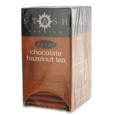 Stash Decaf Chocolate Hazelnut Tea - 18 count http://www.englishteastore.com/stash-tea-decaf-chocolate-hazelnut.html