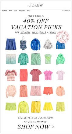 J.CREW : Color Run Product Images