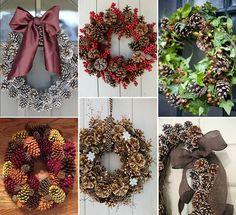 pinhas na decoração de natal - guirlanda