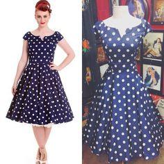 Polka dot dress and petticoat