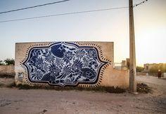 10 DJERBAHOOD MURALISTS - CURIOT  http://www.widewalls.ch/10-djerbahood-muralists/curiot/ #streetartists #Djerbahood #murals #Erriadh #Curiot