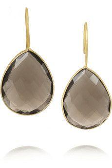 Chan Luu Gold-plated quartz earrings   NET-A-PORTER