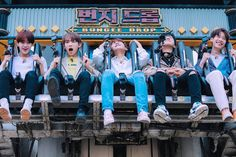 190423 - Filming in Lotte World Handsome Actors, Handsome Boys, Kim Donghyun, Lotte World, David Lee, Choi Seung Hyun, Lee Daehwi, Korean Group, Golden Child