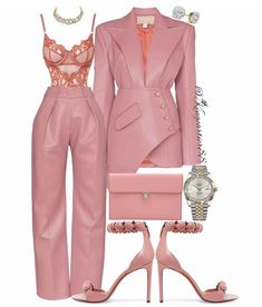 💅🏽 On Wednesday's We Wear Pink 💅🏽 Look Fashion, High Fashion, Autumn Fashion, Fashion Outfits, Womens Fashion, Fashion Design, Fashion Trends, Lila Outfits, Classy Outfits
