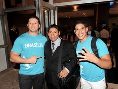 Saindo de um evento nacional que estiveram de diferentes estados do Brasil.