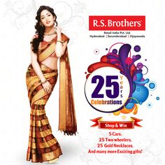 Celebrate this Diwali along with Silver Jubilee Celebrations only @R.S. Brothers! Celebrations never seen before lots of offers awaiting for you come join us in celebrations. Hurry up! #offers till October 26th only!