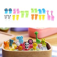 Mini Cartoon Food  Pick Animal Farm Fruit Fork Toothpick Bento Lunches Decor #Unbranded