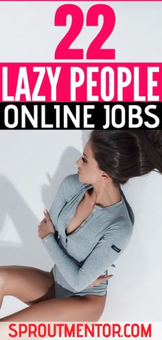 Here are simple easy jobs from home for lazy people looking for low stress work from home opportunities. All these ways to make money online are legit and scam-free. Work From Home Careers, Legitimate Work From Home, Work From Home Opportunities, Work From Home Tips, Make Money Online Surveys, Make Money Blogging, Earn Money, Jobs For Teens, Jobs For Women