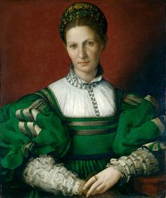 Florentine artist Agnolo Bronzino painted this striking 'Portrait of a Lady in Green' in the early century. It was first acquired for the Royal Collection by Charles I, and is currently on display at the Städel Museum in Frankfurt