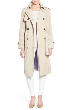 London Fog London Fog Double Breasted Trench Coat (Regular & Petite) available at #Nordstrom