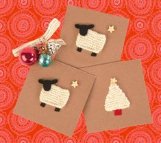 Knitted Christmas Cards  Learn to knit kit by charlieandhannah
