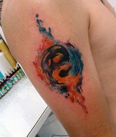 Znalezione obrazy dla zapytania yin yang tattoos