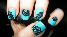 lace and it's so intricate!! #color #teal