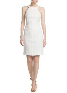 Textured dress with halter neckline and side ribbed panels. Cool Outfits, Fashion Outfits, Womens Fashion, Mango Collection, Mango Clothing, Women's Clothing, Sunday Clothes, Gareth Pugh, Fashion Group
