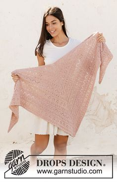 Austrian Spring / DROPS - Free knitting patterns by DROPS Design Austrian Spring - Knitted shawl in DROPS Sky. Piece is knitted top down with lace pattern and garter stitch. Drops Design, Knitted Shawls, Hand Knitted Sweaters, Knitting Patterns Free, Free Knitting, Lace Patterns, Stitch Patterns, Crochet Patterns, Paris Model