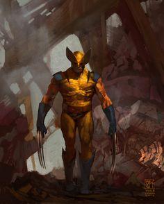 Wolverine, Vance Kovacs on ArtStation at https://www.artstation.com/artwork/1b9OK