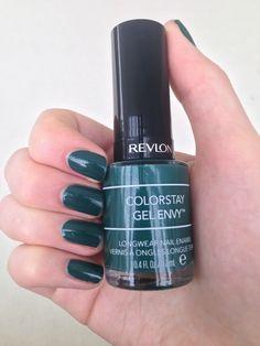 Revlon Colorstay Gel Envy Polish in a gorgeous dark forest green