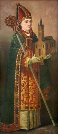 St Ansgar of Scandinavia   http://saintnook.com/saints/ansgarofscandinavia   Painting of Bendixen: Ansgar, Church Trinitatis, Hamburg (Germany), photo 2011
