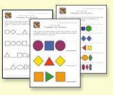 preschool pattern recognition worksheets