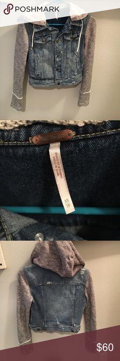 Free people denim jacket size xs Free people xs denim jacket Free People Jackets & Coats Jean Jackets