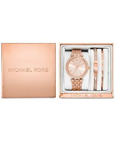 Michael Kors Womens Mini Darci Rose Gold-Tone Stainless Steel Bracelet Watch Gift Set 33mm MK3431 - Watches - Jewelry Watches - Macys www.amazon.com/... ws-na.amazon-adsy...