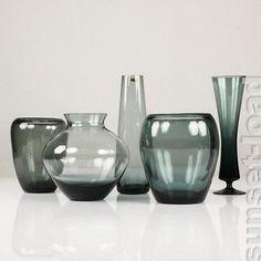 vintage wmf set 6 becher gl ser karaffe krug grau glas. Black Bedroom Furniture Sets. Home Design Ideas